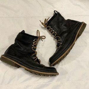 Dr. Martens Men's Black Cap Toe Combat Pier Boots
